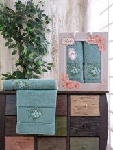 Комплект из 2-х махровых полотенец  Flowers 50*90+70*140 Арт.556.05