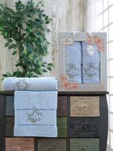 Комплект из 2-х махровых полотенец  Flowers 50*90+70*140 Арт.556.07