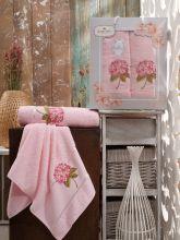 Комплект из 2-х махровых полотенец  Flowers 50*90+70*140 Арт.557.08