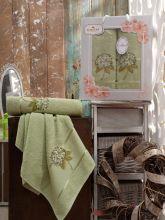 Комплект из 2-х махровых полотенец  Flowers 50*90+70*140 Арт.557.10