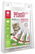 Miss Kiss Капли репеллентные для котят и кошек до 2 кг (3 шт *1 мл)