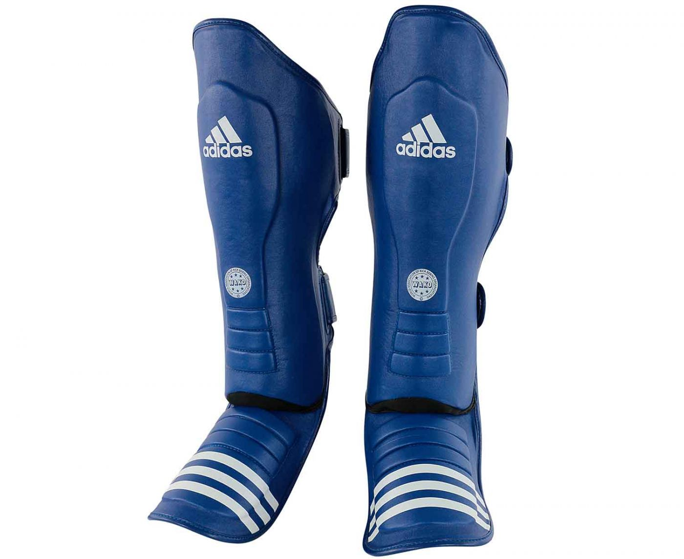 Защита голеностопа Adidas WAKO Super Pro Shin Instep Guards синяя, размер M, артикул adiWAKOGSS11