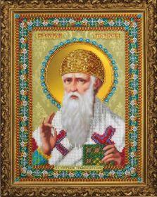 P-380 Картины Бисером. Икона Святителя Спиридона Тримифунтского