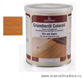 Масляное покрытие для полов и  паркета Borma Grundierol 1л цв.6 натуральный бук  R3910-6