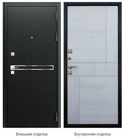 Стальная дверь «Лазер» (заказная)