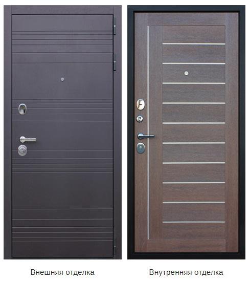 Стальная дверь «Дуэт» (заказная)