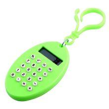 Брелок 8-разрядный калькулятор Овал, Цвет: Зелёный