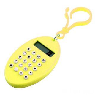 Брелок 8-разрядный калькулятор Овал, Цвет: Жёлтый