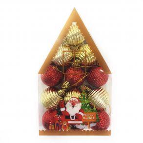 Набор новогодних елочных украшений Merry X-Mas 4 см, 12 шт