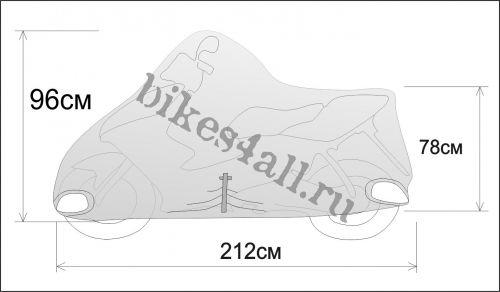 Чехол мотоцикла/скутера Rexwear: М (скутер 50-125см3)