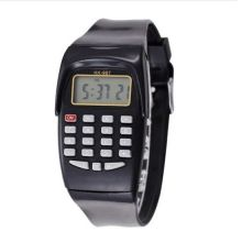 Электронные наручные часы со встроенным 8-разрядным калькулятором KK-907