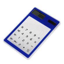 Ультратонкий карманный сенсорный 8-разрядный калькулятор, Цвет: Синий