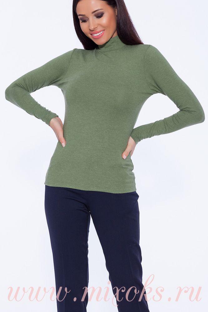 Водолазка женская зеленая