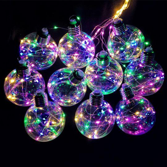 Светодиодная гирлянда Ретро-лампы, 3 м, Цвет свечения: Разноцветный