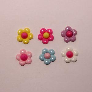 """Кабошон """"Цветок"""", пластик, 21 мм (1уп = 50шт), Арт. КБП0401"""