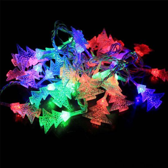 Электрическая светодиодная гирлянда Елочки