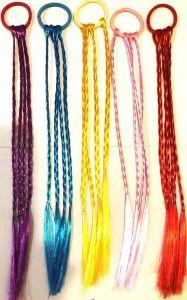 Цветные пряди Косички (30 см, ассортимент)