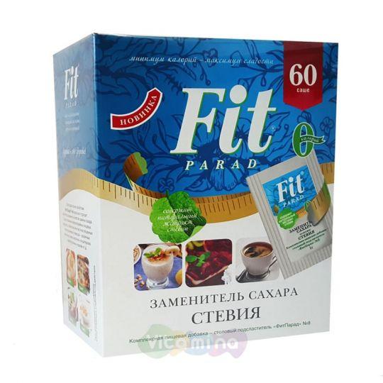 Fit Parad Заменитель сахара на основе эритрита и стевии №8, 60 саше