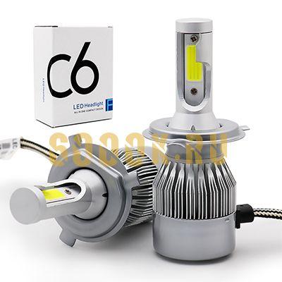 Светодиодная лампа серия C6 цоколь H4