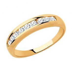 Кольцо из золота с фианитами 018319 SOKOLOV
