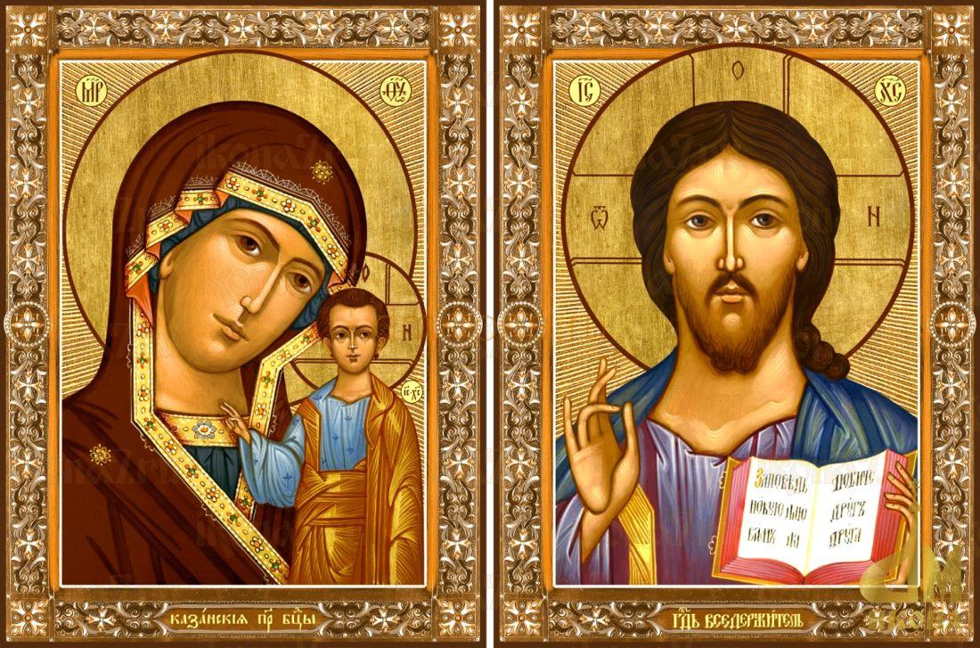 Венчальная пара 42: Казанская икона Божией Матери и Господь Вседержитель