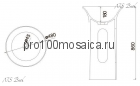 NSF-48481 Раковина из POLYSTONE (акриловый камень) размер,мм: 480*480*860 (NS BATH)