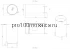 NSF-45450 Раковина из POLYSTONE (акриловый камень) размер,мм: 450*450*900 (NS BATH)