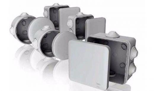 Электромонтажная коробка 80*40 IP54 серая для внешней установки Т-Пласт