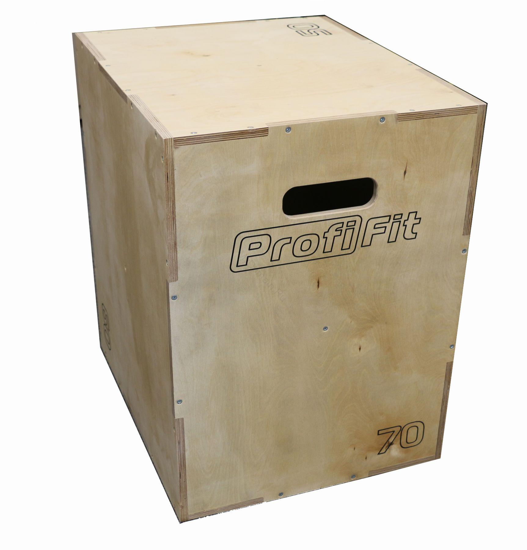 Универсальный PLYO BOX фанера, PROFI-FIT, 3 в 1, 50-60-70см