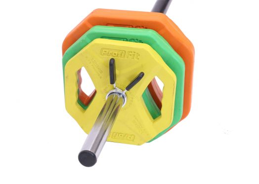 Штанга для аэробики PROFI-FIT PROGRESS, обрезиненные диски (1,25 кг; 2,5 кг; 5 кг) по 2шт