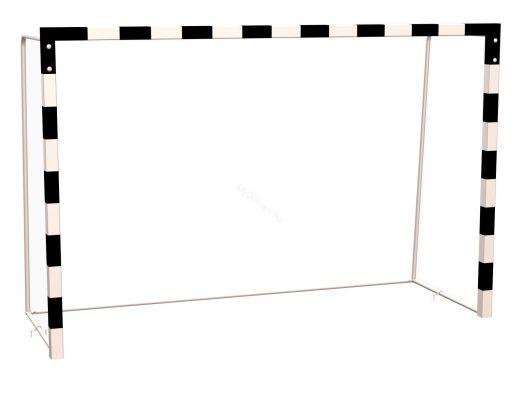 Ворота ZSO для мини-футбола, гандбола с разметкой, профиль 80х80 мм (без сетки)