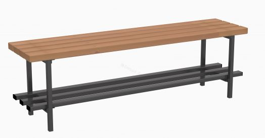 Скамья для раздевалок без спинки 2 м