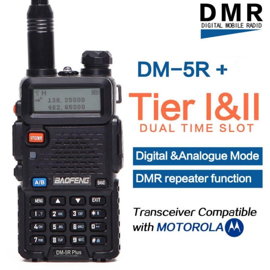 Рация Baofeng DM-5R Plus NEW (Tier I & II) аналогово-цифровая VHF/UHF