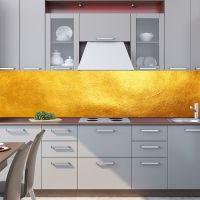 Фартук для кухни - Золото | интерьерные наклейки
