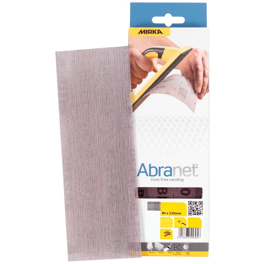 Mirka ABRANET. Полоска абразивная на сетчатой синтетической основе, 80мм. х 230мм., Р120, в упаковке 10шт.
