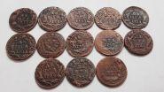 13 монет (погодовка) ДЕНЬГА Елизаветы Петровна