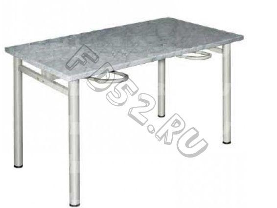 Стол обеденный четырехместный с универсальными кронштейнами 1200×700×730 мм с пластиковым покрытием