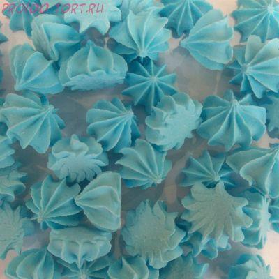 Украшение сахарное Мини-безе (голубое) 50гр.