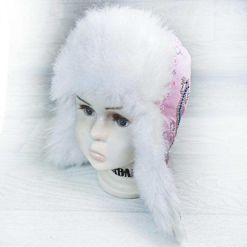 язд1148-37 Шапка-ушанка из плащевки Ящерица нежно-фиолетовая р-р 52