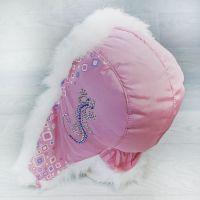 язд1148-4703 Шапка-ушанка из плащевки Ящерица розовый/белый р-р 54