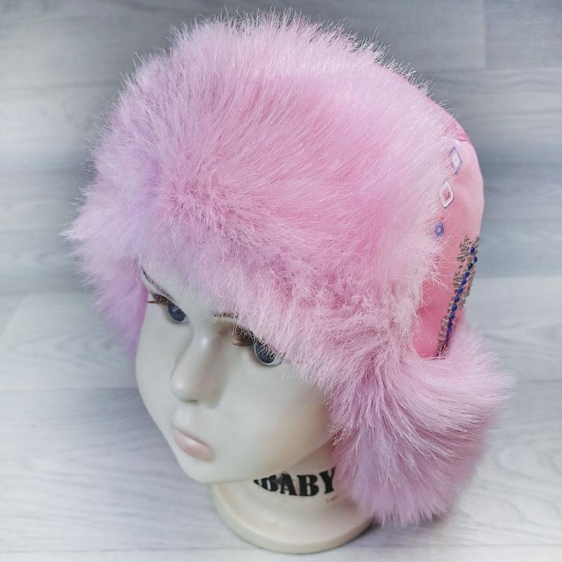 язд1148-4747 Шапка-ушанка из плащевки Ящерица розовый/розовый р-р 56