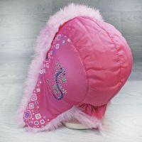 язд1148-6247 Шапка-ушанка из плащевки Ящерица фуксия/розовый р-р 54