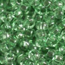 Бисер чешский 01163 темно-зеленый прозрачный кристальный Preciosa 1 сорт
