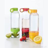 Бутылка соковыжималка Citrus Zinger, цвет Kрасный