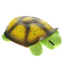Ночник музыкальный проектор звездного неба Черепаха, Цвет: Салатовый, Панцирь: Жёлтый