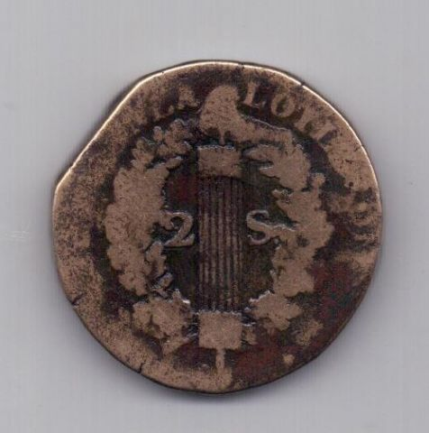 2 соля 1792 года R Франция