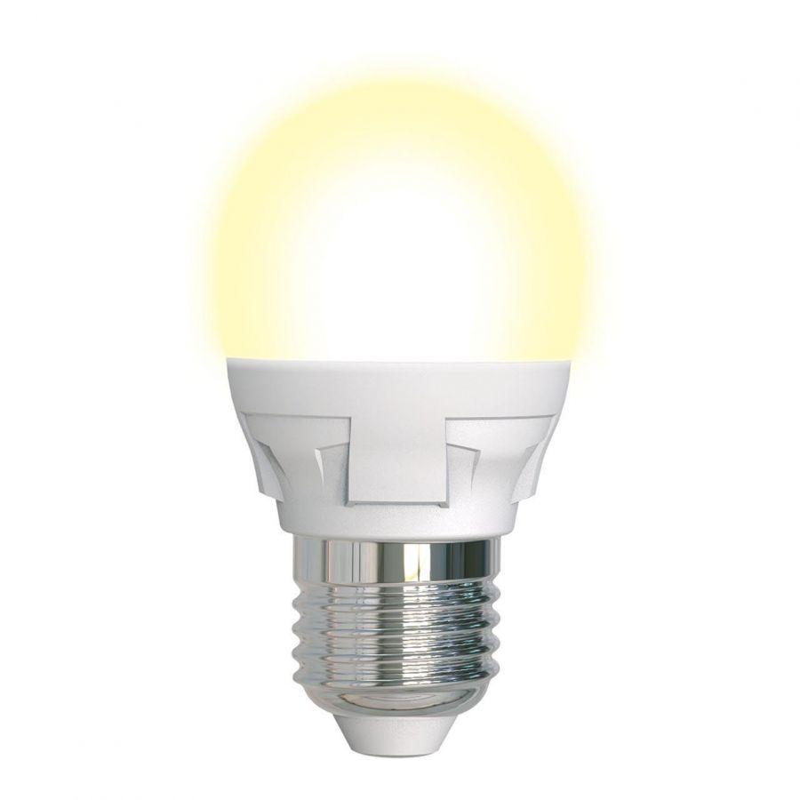 Лампа светодиодная диммируемая (UL-00004303) E27 7W 3000K матовая LED-G45 7W/3000K/E27/FR/DIM PLP01WH