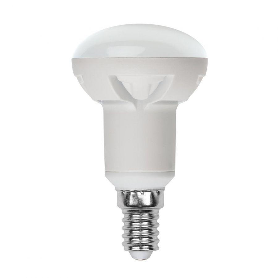 Лампа светодиодная диммируемая (UL-00004709) E14 7W 4000K матовая LED-R50 7W/4000K/E14/FR/DIM PLP01WH