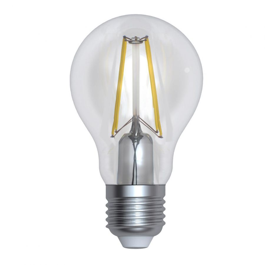 Лампа светодиодная диммируемая (UL-00005181) E27 10W 3000K прозрачная LED-A60-10W/3000K/E27/CL/DIM GLA01TR