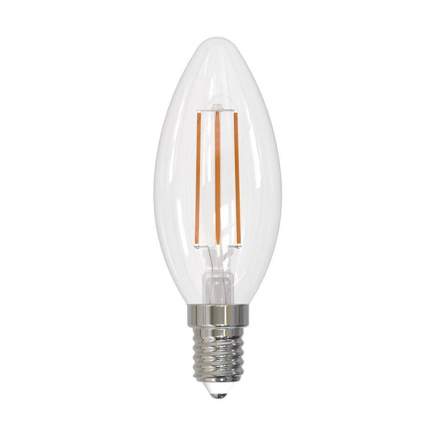 Лампа светодиодная филаментная диммируемая (UL-00005186) Uniel E14 9W 4000K прозрачная LED-C35-9W/4000K/E14/CL/DIM GLA01TR